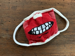 Plush Mask, Say Cheese, Red Base